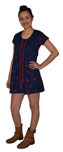 Ayurvastram Hand Embroidered Cotton Summer Dress